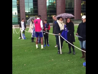 #Chelsea players meeting guests at Cobham as part of our Community Day. #CFC #ChelseaFC