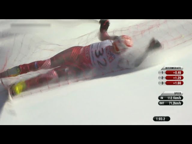 [HD] IVICA KOSTELIC Fall LIVE Sturz Beaver Creek 2015