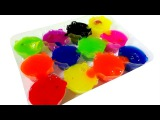Learn Colors Slime Clay Teletubbies Shopkins The Simpsons Hello Kitty Dora Barbapapa SpongeBob