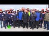 Владимир Путин посетил место строительства моста через Керченский пролив