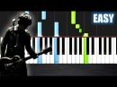 Green Day - 21 Guns - EASY Piano Tutorial by PlutaX - Synthesia