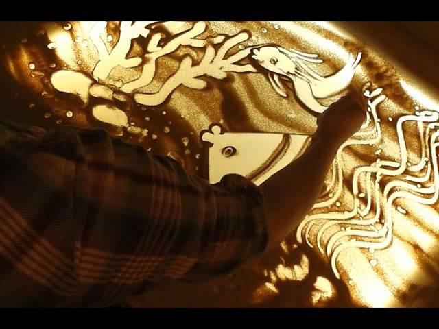рисование песком- урок 1. художник- Айбазова Ева. » Freewka.com - Смотреть онлайн в хорощем качестве