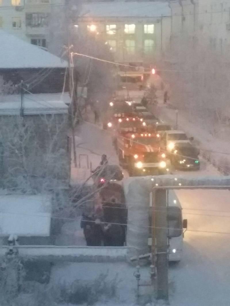 Пожар в детском саду Якутска