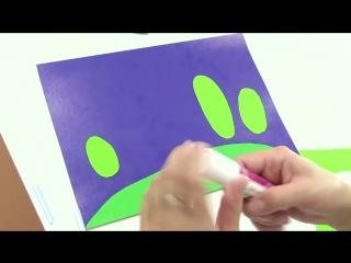 Аппликация Ночной Лес! Видео для детей! Поделки!