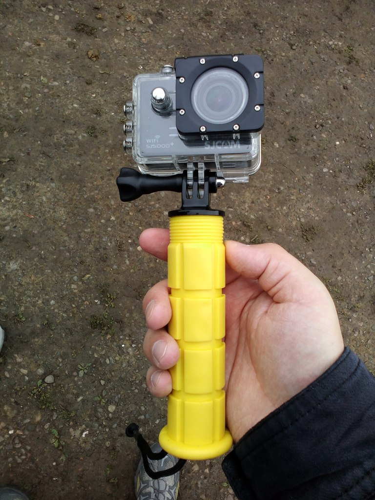 TVC-Mall: Два монопода для экшен-камеры — ручной и телескопический