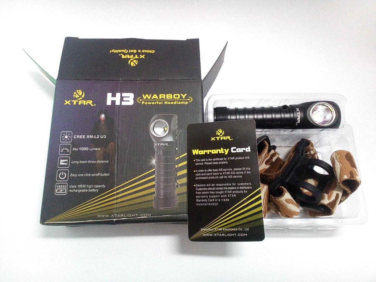 Бешеный фонарь XTAR H3 WARBOY