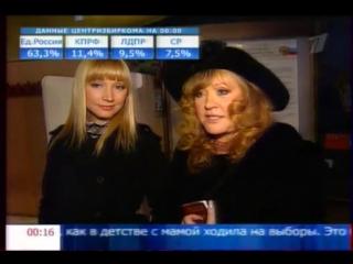 Алла Пугачева и Кристина Орбакайте - На выборах в Государственную Думу РФ (02.12.2007)