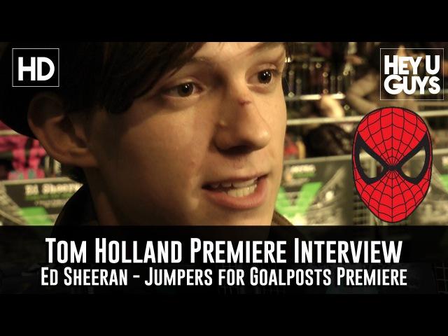 Tom Holland Interview - Spider-Man (Jumpers for Goalposts Premiere)