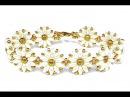 Tutorial flower bracelet easy SuperDuo beads / Цветочный браслет из супердуо бисера ЛЕГКО!