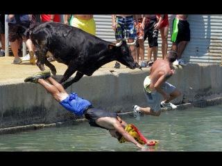Смешные прыжки в воду падения и неудачные трюки