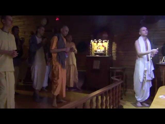 Мангала-Арати - Ашрам Бхактиведанты, 13.04.2014