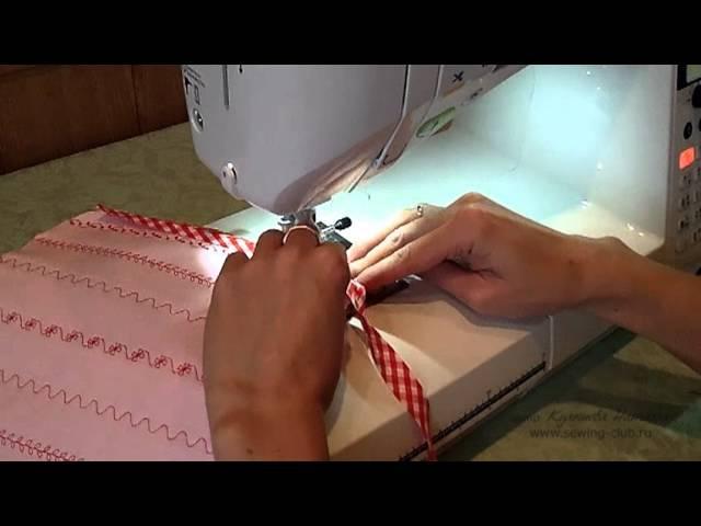 Как пришить косую бейку