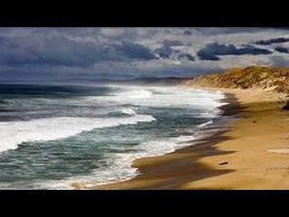 Звуки природы. Шум морского прибоя - Шум журчания воды - Тихий вечерний морской б ...