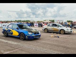 Burnout Two Subaru Impreza WRX STi in Orel