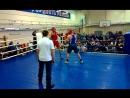 Представитель В.О.С. Артём Зверев на соревнованиях по боксу.
