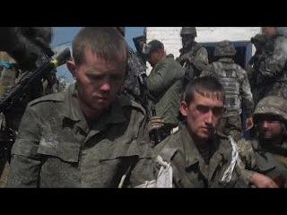 Пленные российские солдаты,участвовавших в боевых действиях на востоке Украины.