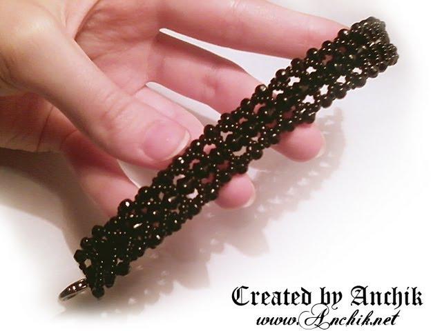 Tutorial easy beaded bracelet Как сделать браслет из бисера (косичка рыбий скелет)