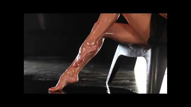 Wet female legs. Beautiful toes FLF