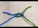 Незаметный узел для связывания нитей (ткацкий узел).