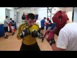 Школа бокса и кикбоксинга Андрея Рябченка (отработка боковых ударов и ударов  снизу)