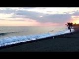 Закат солнца в зимнюю субботу на побережье Коста-дель-Соль.