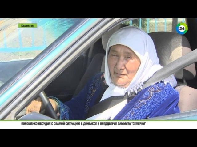Пенсионерка из Астаны подрабатывает таксисткой