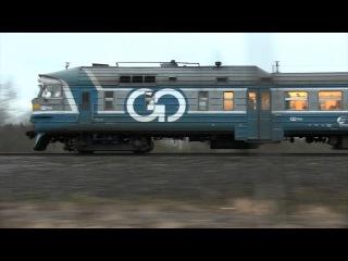 Гонка с дизель-поездом ДР1А II: поезд Таллин-СПб / Race with DR1A DMU Tallinn-S.Petersburg train