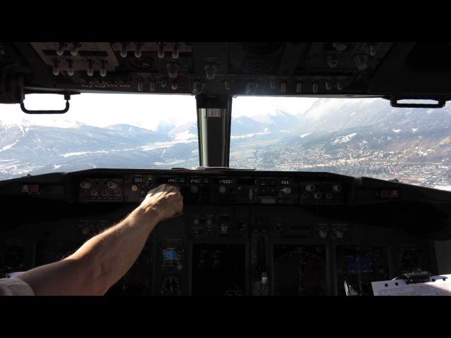 Landing rwy 26 Innsbruck (LOWI) SAS B737-700