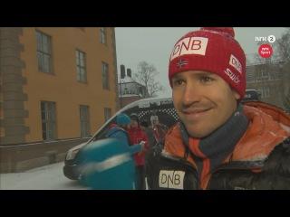 Эмиль Хегле Свендсен и сборная Норвегия перед спринтом - Остерсунд 2015