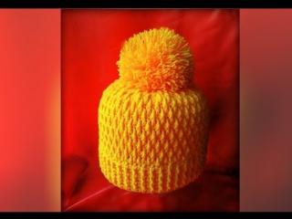 Как связать шапку крючком. Crochet hat