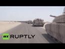 Колонна из танков AMX-56 «Леклерк», БМП-3, Хаммер ВС Саудовской Аравии и ОАЭ в Йемене