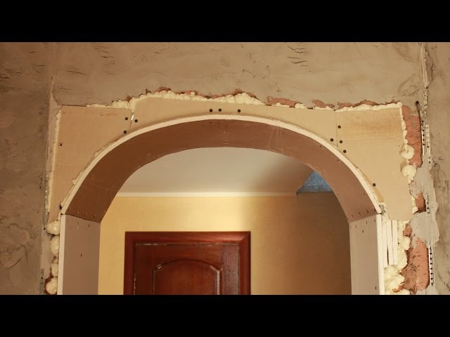 Как согнуть гипсокартон для арки в дверном проеме своими руками