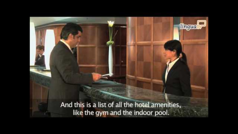 English for Hotel and Tourism: Checking into a hotel by LinguaTV