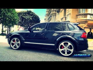 600hp TechArt Magnum Porsche Cayenne - loud accelerations and brutal V8 sound!!