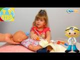 ✔ Беби Борн. Девочка Ника лечит свою куклу / Видео для детей / Baby Born Doll ✔