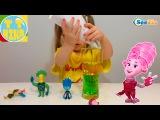 ✔ ФИКСИКИ. Девочка Ника проводит опыты с жидкостью в ФиксиЛаборатории. Видео для детей. Fixiki ✔