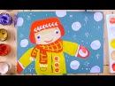 Зимние игры снежки, Антошка - урок рисования для детей от 4 лет, как нарисовать п ...