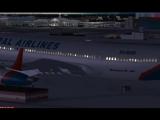 IL96-400 FSX Аварийная посадка без шасси