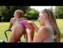 Danielle Maye and Loulou Petite - Pussy Eating In The Park - Workout Turns Sexual