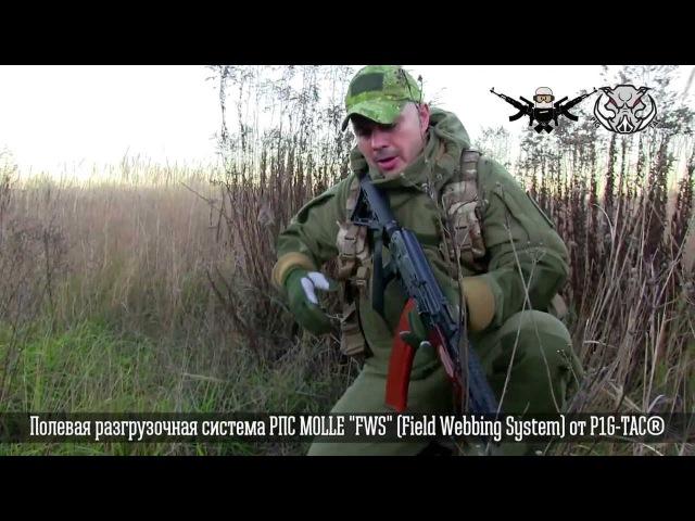 ГРТ Кузьмич. Полевая разгрузочная система РПС MOLLE FWS (Field Webbing System) от P1G-TAC®