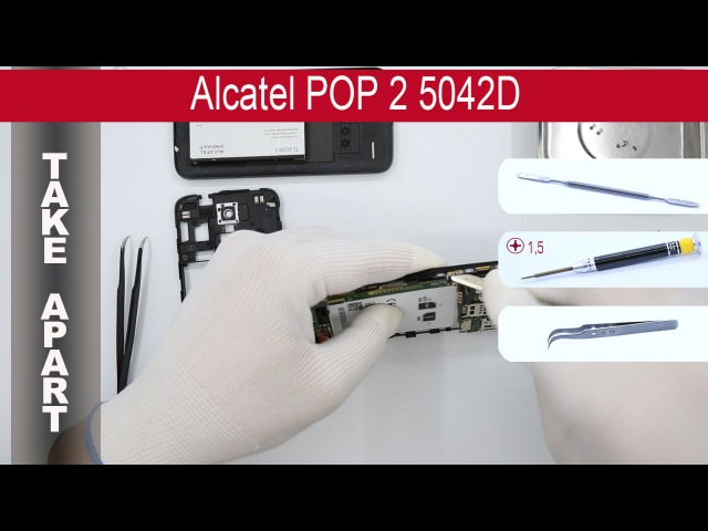 How to disassemble 📱 Alcatel POP 2 5042D, Take Apart, Tutorial