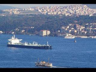 Босфор, Стамбул.  Сегодня Турция закрывает пролив для прохода судов России. Хроника войны в Сирии