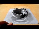 Как нарисовать 3D рисунки карандашом на бумаге