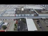 Tesla Factory by Drone in 4K