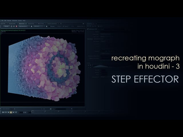 Recreating Mograph in Houdini - 3 - Step effector