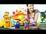 Игры для детей. Щенячий патруль и Мари помогают фермеру. Собираем игрушечный самолет.