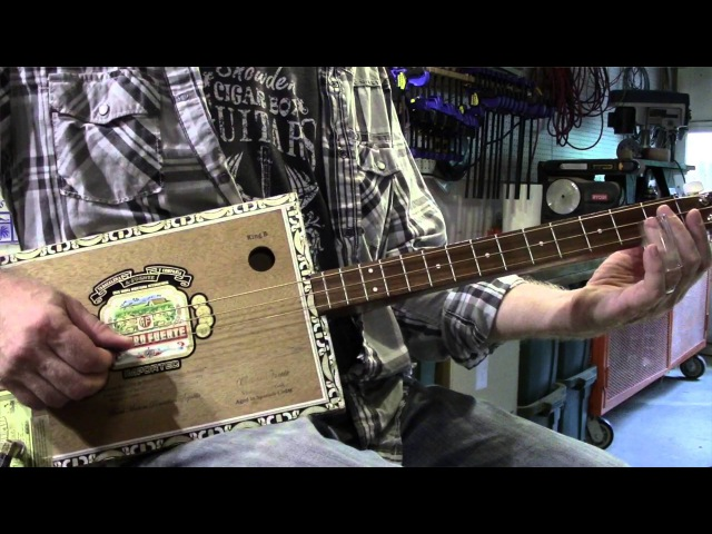 How to Play Chicken Coop Blues Cigar Box Guitar Mike Snowden
