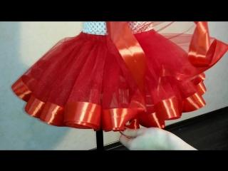 Сшить юбку с атласными лентами