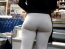 Very nice booty in white spandex