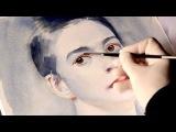 Как рисовать лицо - рисуем лицо человека портрет акварелью Артакадемия